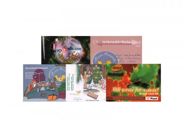 5 X-Mas-Cards Österreich im Set