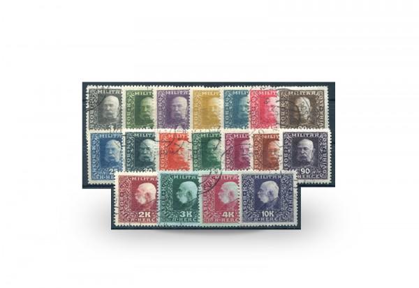 Briefmarken Österreich/Bosnien Herzegowina Franz Joseph 1916 Michel-Nr. 99/116 postfrisch
