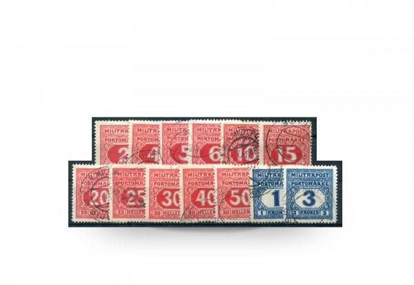 Briefmarke Österreich/Bosnien Herzegowina 1916 Michel-Nr. 14/26 postfrisch