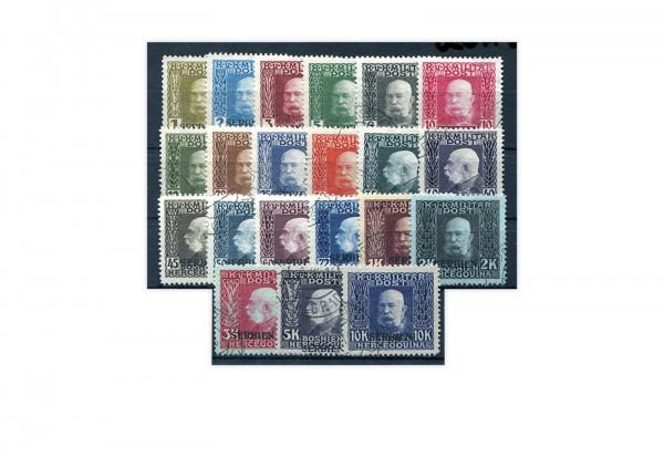 Österreichisch-ungarische Feldpost Mi.Nr. 1-21 **