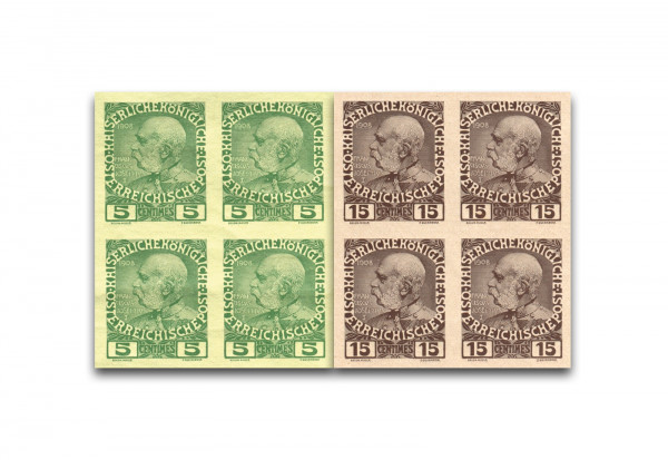Österreich Post auf Kreta Regierungsjubiläum 1908 Mi.Nr. 17 + 19 U postfrisch