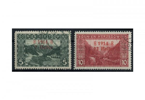 Bosnien/Herzegowina Freimarken 1914 Mi.Nr. 89/90 **