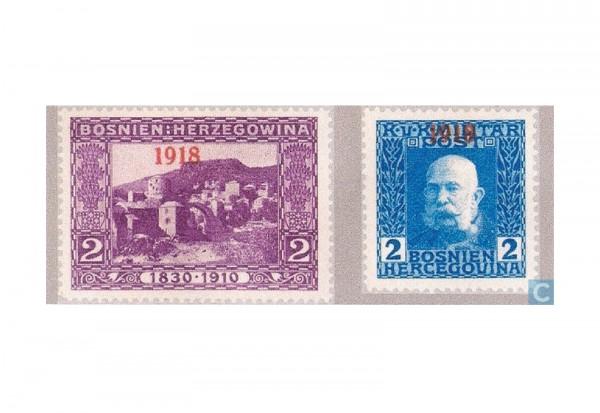 Bosnien-Herzegowina Freimarken 1918 Mi.Nr. 147-148 **
