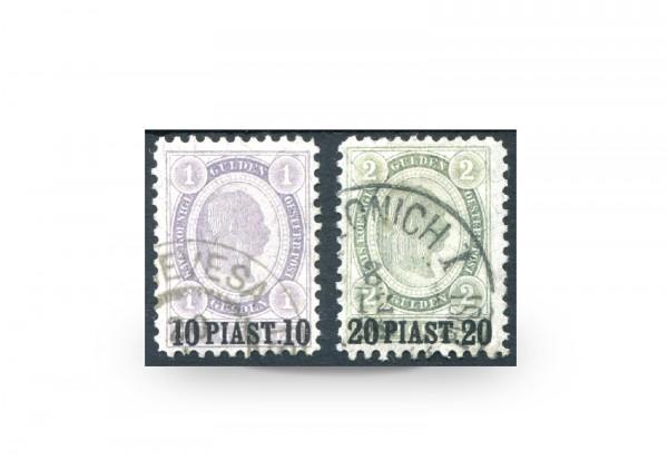 Briefmarken Österreich/Levante Franz Joseph 1896 Michel-Nr. 30/31 postfrisch