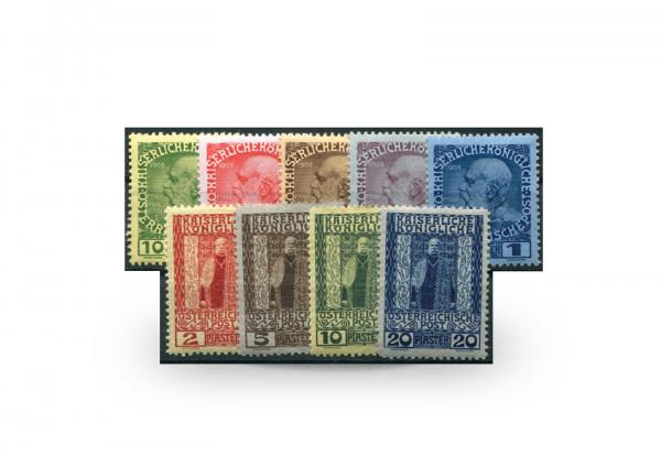 Briefmarken Österreich/Levante Regierungsjubiläum 1908 Michel-Nr. 53/61 postfrisch