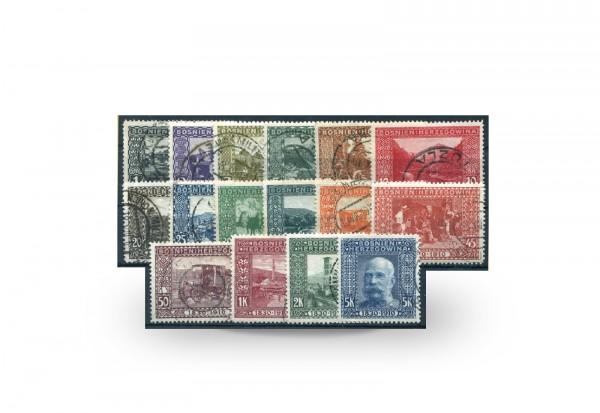 Briefmarken Österreich/Bosnien Herzegowina 1910 Michel-Nr. 45/60 postfrisch