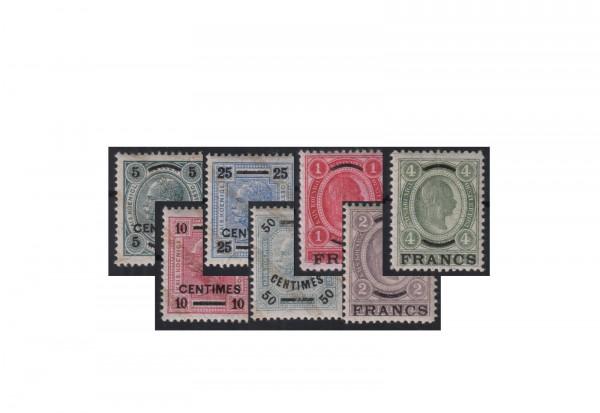 Freimarken Österreich/Kreta Michel-Nr. 1/7 postfrisch 1903/1904