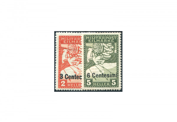 Österreich Feldpost Ausgabe für Italien 1918 Michel Nr. 24 bis 25 postfrisch