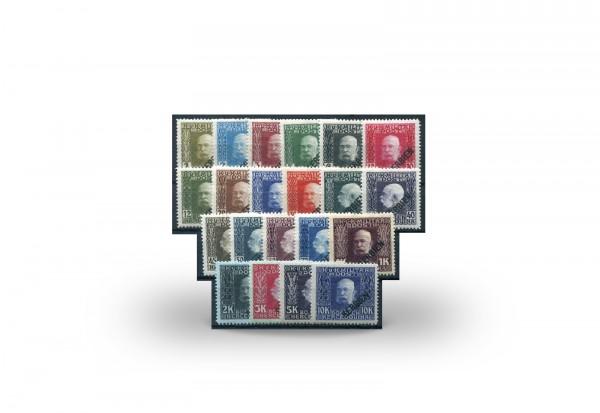 Briefmarke Österreich Ungarn/Serbien Feldpost Franz Joseph 1916 Michel-Nr. 22/42 postfrisch