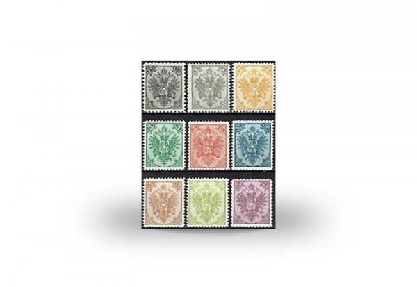Briefmarke Doppeladler Österreich/Bosnien Herzegowina 1901-1905 Michel-Nr. 1-9 II postfrisch