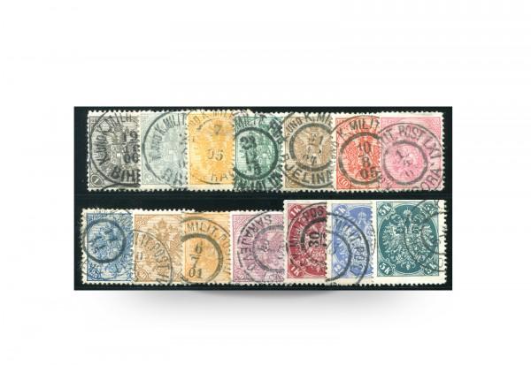 Briefmarke Doppeladler Österreich/Bosnien Herzegowina 1901-1905 Michel-Nr. 10-23 postfrisch