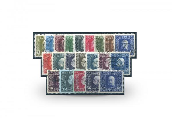 Briefmarke Franz Jospeh I. Österreich/Bosnien Herzegowina 1912-1914 Michel-Nr. 64/84 postfrisch