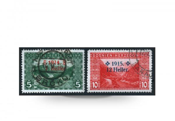 Briefmarke Österreich/Bosnien Herzegowina 1915 Michel-Nr. 91-92 postfrisch