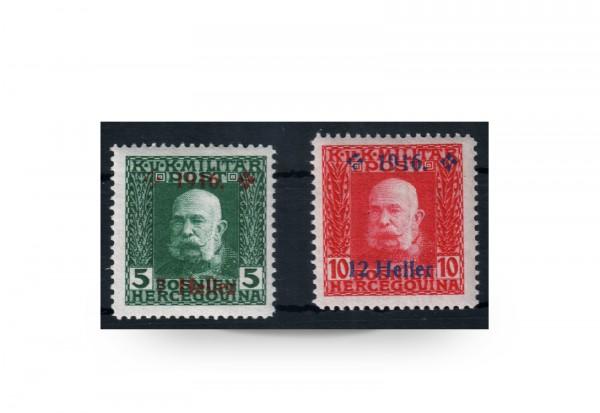 Briefmarke Österreich/Bosnien Herzegowina 1916 Michel-Nr. 95-96 postfrisch
