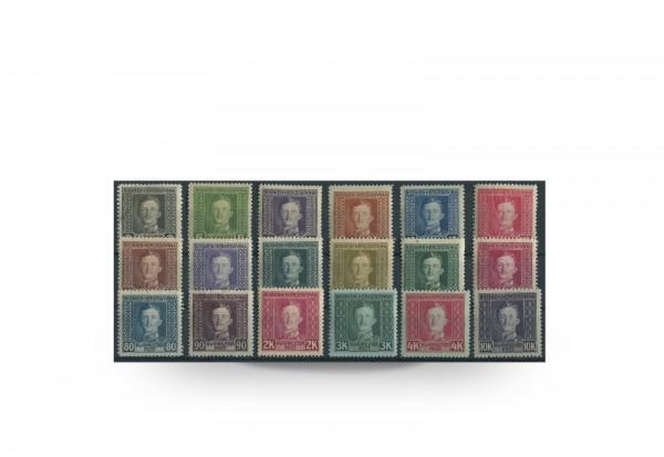 Briefmarke Österreich/Bosnien Herzegowina 1917 Michel-Nr. 124-141 postfrisch