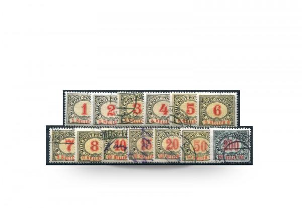 Briefmarke Österreich/Bosnien Herzegowina 1904 Michel-Nr. P 1-13 postfrisch