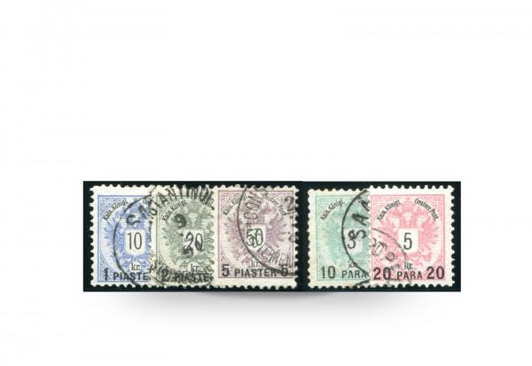 Briefmarken Wappen Österreich/Levante 1888 Michel-Nr. 15/19 postfrisch