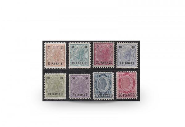 Briefmarken Österreich/Levante Franz Joseph 1890 Michel-Nr. 20/27 postfrisch