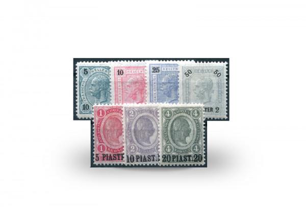 Briefmarken Österreich/Levante Franz Joseph 1900 Michel-Nr. 32/38 postfrisch