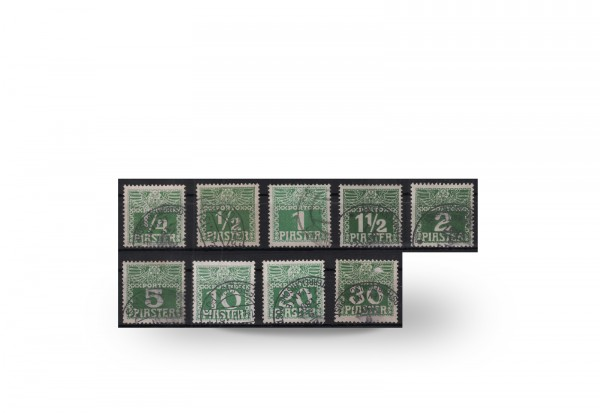Briefmarken Österreich/Levante 1908 Michel-Nr. P 6/14 postfrisch