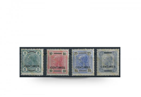 Briefmarken Österreich/Kreta Franz Joseph 1904 Michel-Nr. 8/11 postfrisch