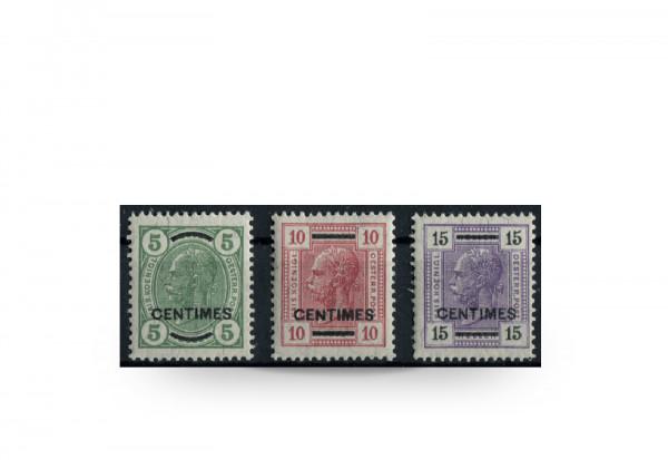 Briefmarken Österreich/Kreta Franz Joseph 1907 Michel-Nr. 14/16 postfrisch