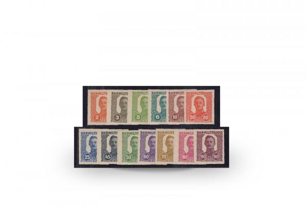 Briefmarken Österreich Bosnien-Herzegowina Kaiser Karl I. 1918 Michel-Nr. I-XIII U postfrisch