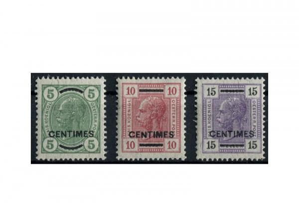 Kreta Freimarken 1907 Mi.Nr. 14/16 Falz