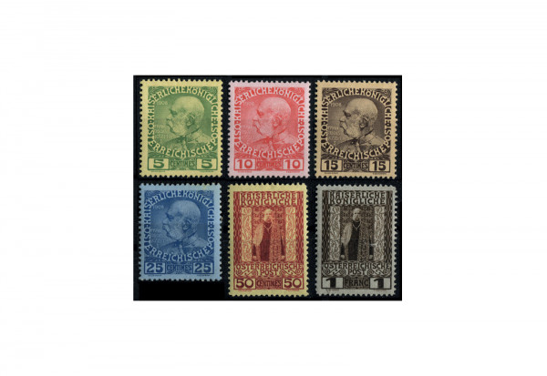 Kreta Freimarke 1908 Mi.Nr. 17/22 Falz