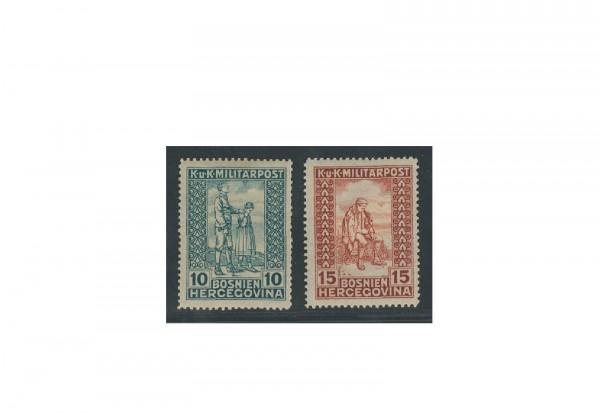 Briefmarken Österreich/Bosnien Herzegowina Invalidenhilfe Michel-Nr. 142/43 Falz