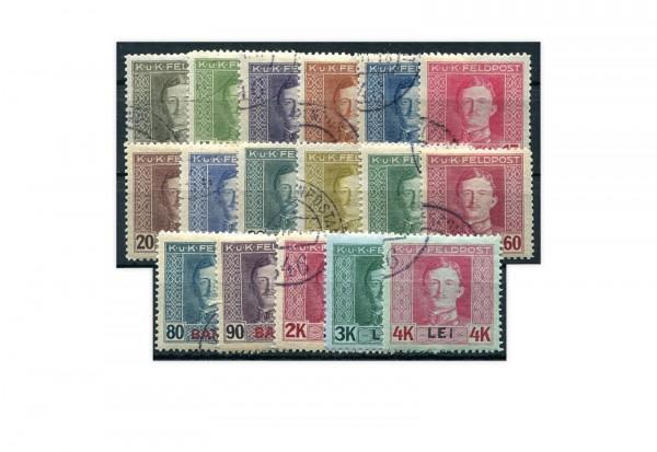 Österreichisch-ungarische Feldpost Mi.Nr. 1-17 Falz