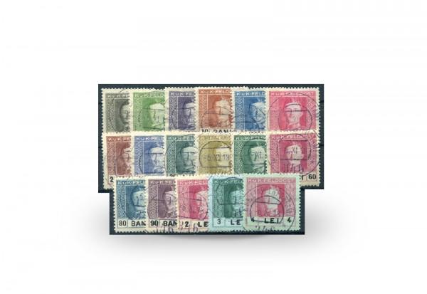 Briefmarke Österreich Ungarn/Rumänien Feldpost Kaiser Karl I 1918 Michel-Nr. 18/34 Falz