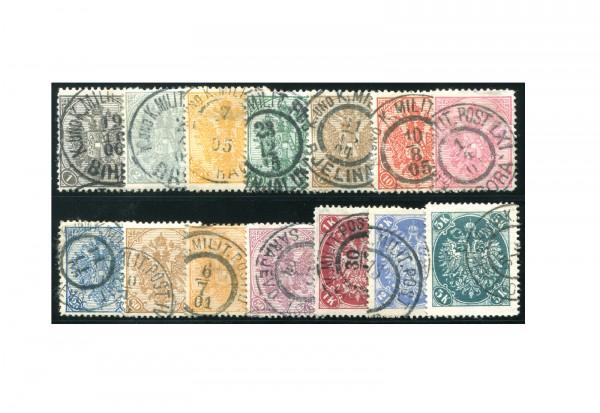 Bosnien/Herzegowina Doppeladler 1900 Mi.Nr. 10-23 Falz