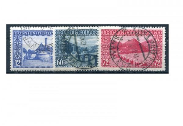 Bosnien/Herzegowina Freimarken 1912 Mi.Nr. 61/63 Falz