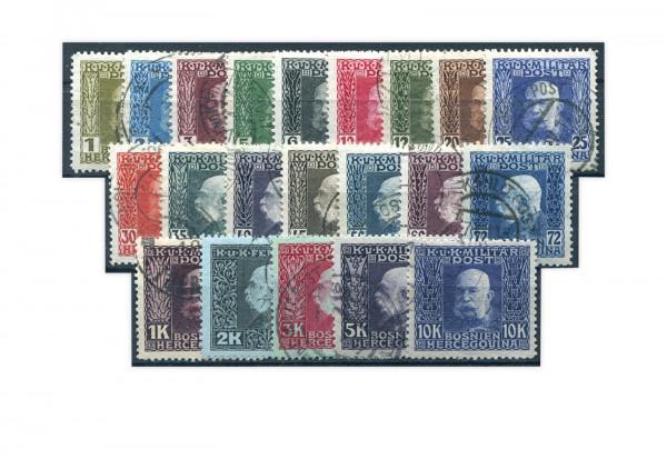 Bosnien/Herzegowina Franz Joseph I. Mi.Nr. 64/84 Falz