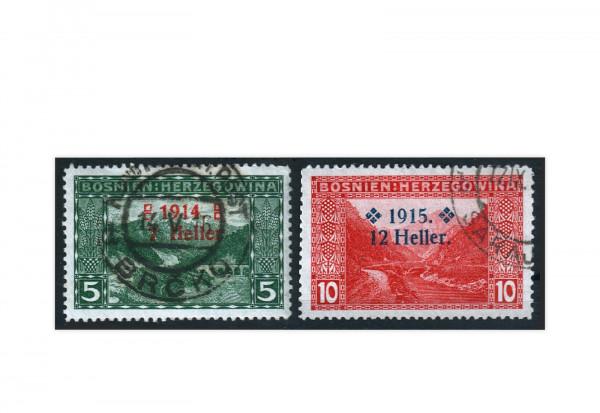 Bosnien-Herzegowina Freimarken 1915 Mi.Nr. 91-92 Falz