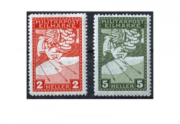 Bosnien-Herzegowina Eilmarken 1916 Mi.Nr. 117-118 Falz