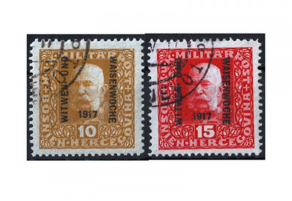 Bosnien-Herzegowina Witwen und Waisen 1917 Mi.Nr. 119-120 **