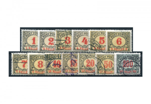 Bosnien-Herzegowina Portomarken P 1-13 Falz