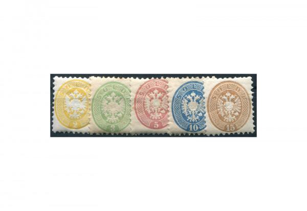 Lombardei und Venetien Freimarken 1864 Mi.Nr. 19-23 **