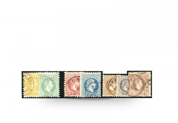 Briefmarken Österreich/Levante Franz Joseph 1867/83 Michel-Nr. 1/6 II Falz