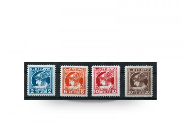 Briefmarke Österreich Ungarn Feldpost 1916 Michel-Nr. 49/52 Falz