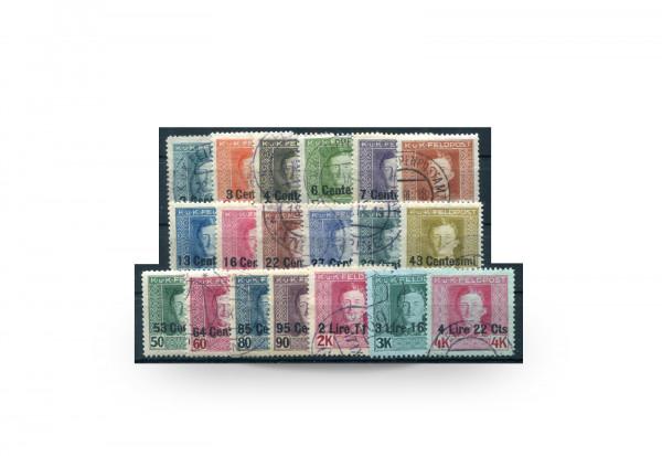 Briefmarke Österreich/Italien Feldpost Kaiser Karl I. 1918 Michel-Nr. 1/19 Falz