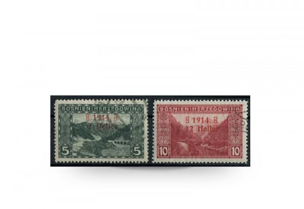 Briefmarke Österreich/Bosnien Herzegowina 1914 Michel-Nr. 89-90 Falz