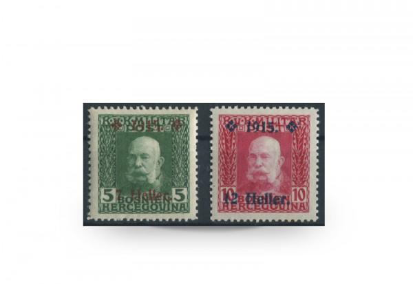 Briefmarke Österreich/Bosnien Herzegowina 1915 Michel-Nr. 93-94 Falz