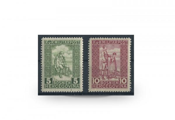 Briefmarke Österreich/Bosnien Herzegowina 1916 Michel-Nr. 97-98 Falz