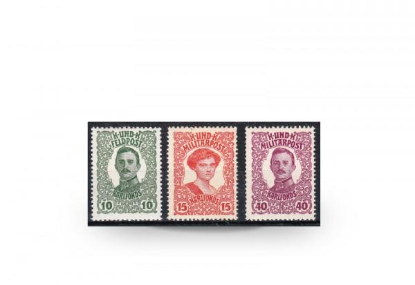 Briefmarke Österreich/Bosnien Herzegowina Kaiserfürsorge Michel-Nr. 144-146 Falz