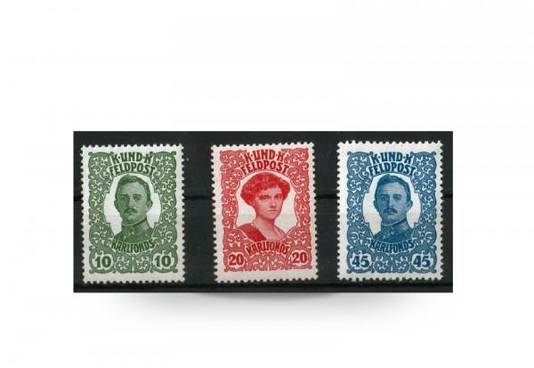 Briefmarken Österreich Ungarn Feldpost Kaiser-Karl-Woche 1918 Michel-Nr. 73/75 Falz