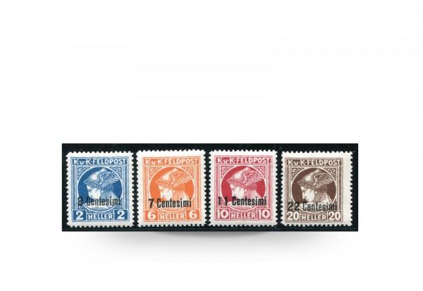 Briefmarke Feldpost Österreich/Italien 1918 Michel-Nr. 20/23 Falz