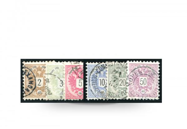 Briefmarke Wappen Österreich/Levante 1883 Michel-Nr. 8/13 Falz